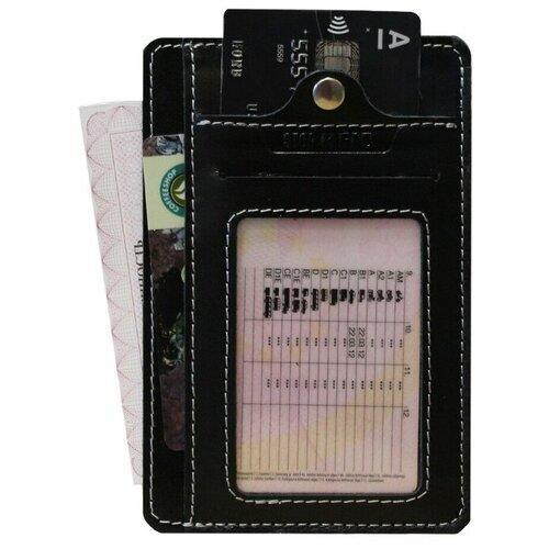 Обложка для автодокументов Apache RFID, черный