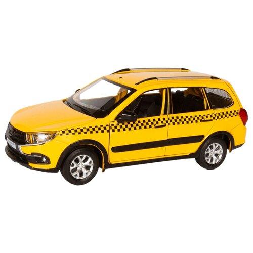 Купить Легковой автомобиль Автопанорама Lada Granta Cross Такси (JB1251204) 1:24 желтый, Машинки и техника