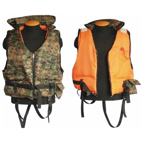 Спасательный жилет Спортивные Мастерские Двухсторонний Шкипер SM-019 XL-XXL оранжевый/камуфляж