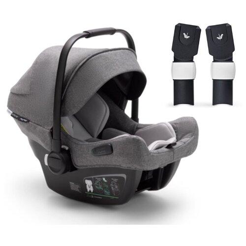 Купить Автокресло-переноска группа 0+ (до 13 кг) Bugaboo Turtle Air by Nuna (+адаптер для коляски FOX), grey melange, Автокресла
