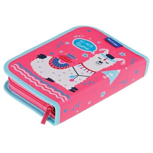 Купить Berlingo Пенал No drama lama (PK06041) розовый/голубой, Пеналы