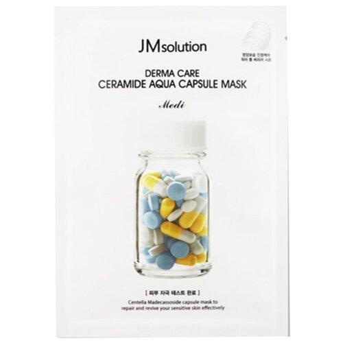 JM Solution Восстанавливающая целлюлозная маска с керамидами Derma Care Ceramide Aqua Capsule Mask, 30 мл sally s box aqua skin solution mask madecassoside