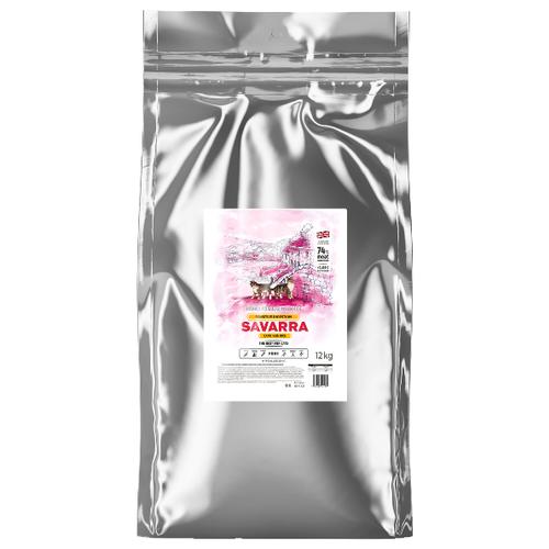 Фото - Сухой корм для кошек SAVARRA при чувствительном пищеварении, гипоаллергенный, с ягненком, с рисом 12 кг сухой корм для щенков savarra индейка с рисом 3 кг