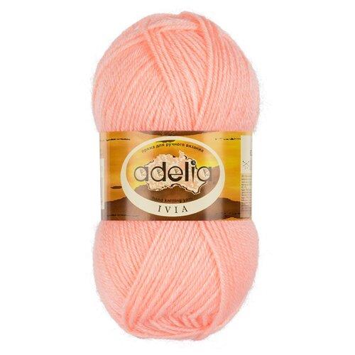 Пряжа Adelia IVIA 100% акрил №113 розовый - 4 мотка по 62.5 г