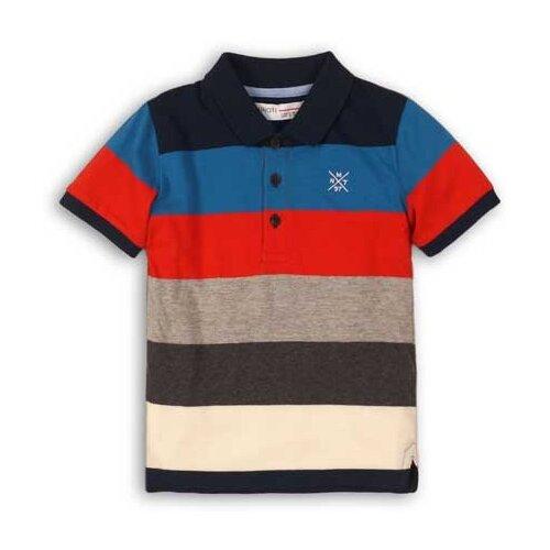 Поло Minoti размер 6-7л, синий/серый/красный платье minoti размер 6 7л серый