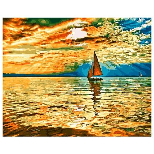 Купить Картина по номерам Paintboy GX 30290 Парусник в солнечных лучах 40x50 см, Картины по номерам и контурам