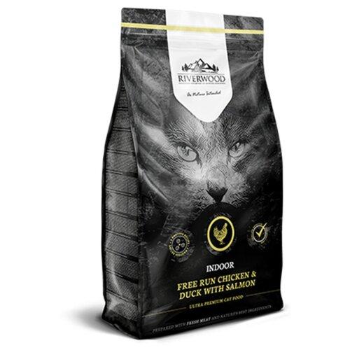 Сухой корм для кошек Riverwood Indoor беззерновой, гипоаллергенный с курицей, с уткой, с лососем 2 кг