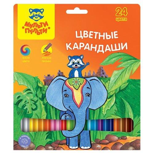 Купить Мульти-Пульти Карандаши цветные Енот в Индии 24 цвета (CP_10750), Цветные карандаши