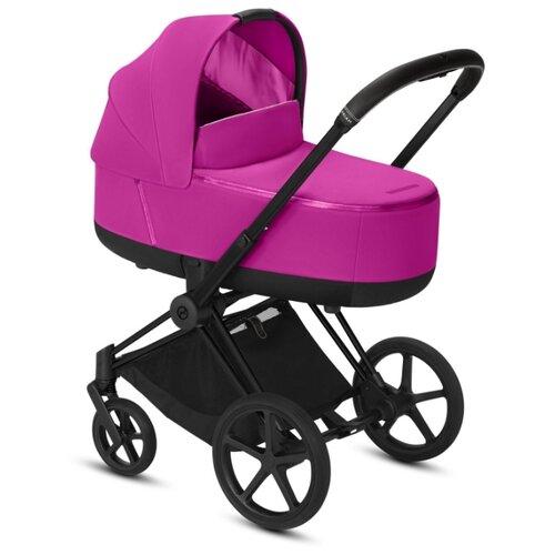 Купить Коляска для новорожденных Cybex Priam III (люлька) fancy pink/matte black, цвет шасси: черный, Коляски