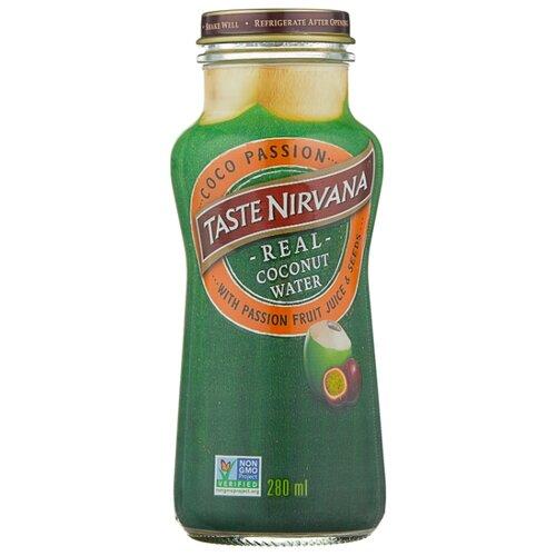 Вода кокосовая Taste Nirvana с соком и семенами маракуйя, без сахара, 0.28 л сироп sweetfill маракуйя 0 5 л