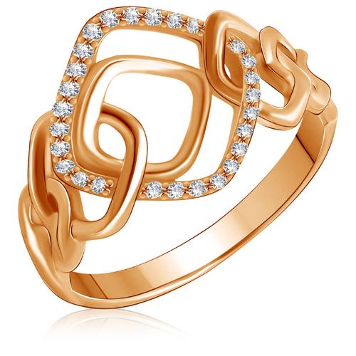 Бронницкий Ювелир Кольцо из красного золота 01К116526, размер 16