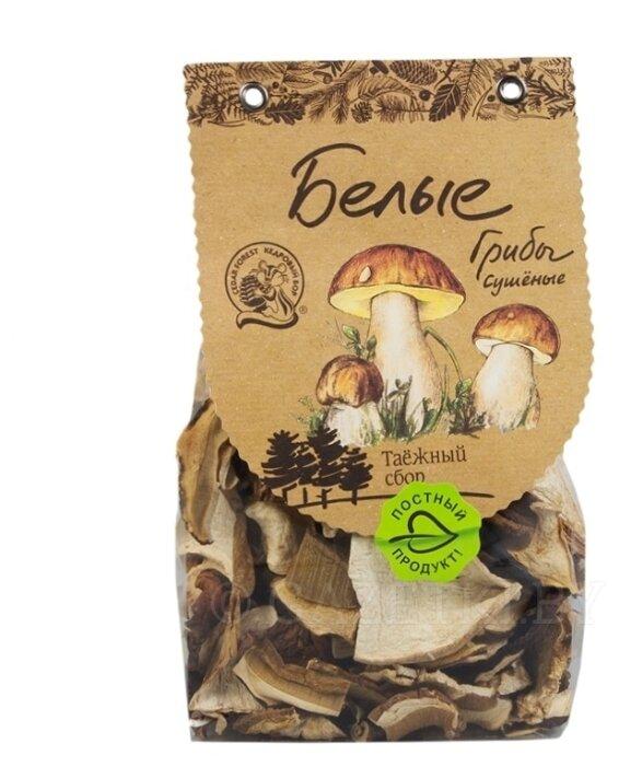 Кедровый Бор Грибы белые резаные сушеные, пакет полиэтиленовый (Россия)