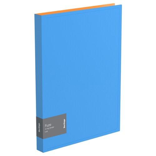 Купить Berlingo Папка на 4-х кольцах Fuze А4, 25 мм, 600 мкм, пластик голубой, Файлы и папки