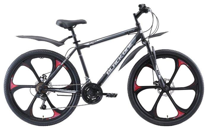 Велосипед Black One Onix 26 D FW серый/черный/красный 2020-2021, (20')(HD00000410)