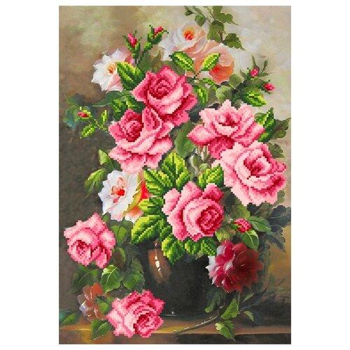 Купить Розовая элегия Набор для вышивания бисером 37х49 (26х38) Матренин Посад 0068/Б, Матрёнин Посад, Наборы для вышивания