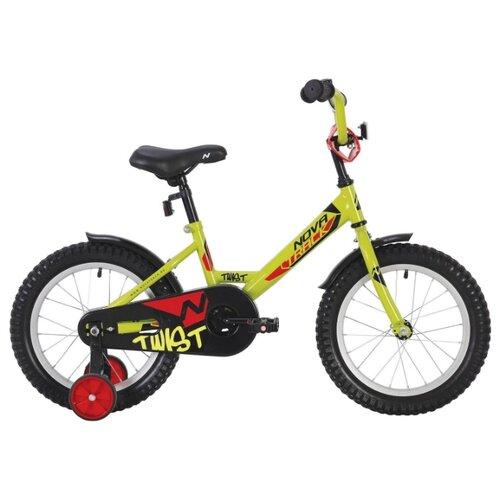 Детский велосипед Novatrack Twist 16 (2020) салатовый (требует финальной сборки)
