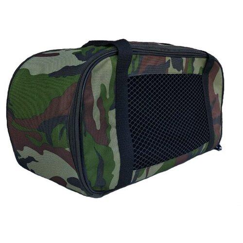 Переноска-сумка для собак Теремок СПО-2 48х22х27 см темно-зеленыйТранспортировка, переноски<br>