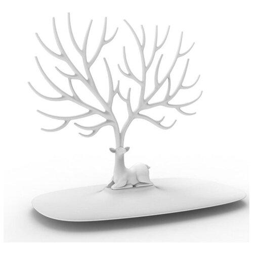 Подставка для украшений Qualy Deer малый, белый органайзер для мелочей qualy caccessories 20 21 10 см белый с зеленым