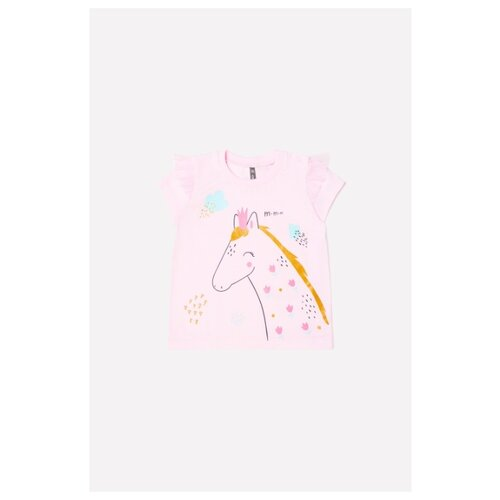 Купить Футболка crockid размер 74, розовое облако, Футболки и рубашки