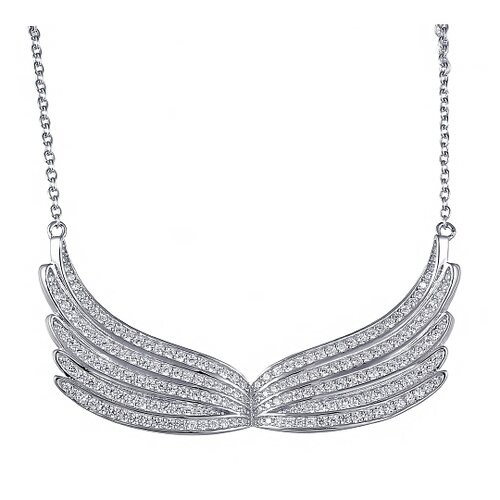 ELEMENT47 Ювелирное колье из серебра 925 пробы с фианитами DM1340N-001-WG, 45 см, 9.24 г