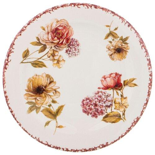 Тарелка закусочная lcs flower garden 20см без упаковки Lcs (682-102)