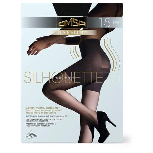 Колготки Omsa Silhouette 15 den, размер 3-M, nero (черный) колготки omsa silhouette 15 den размер 3 m nero