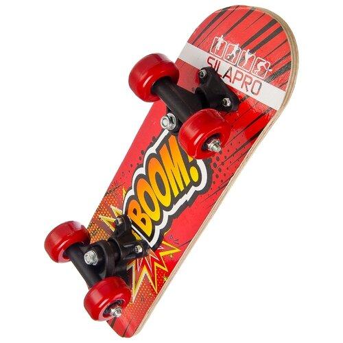 Скейтборд SILAPRO P173 красный с декоромСкейтборды и лонгборды<br>