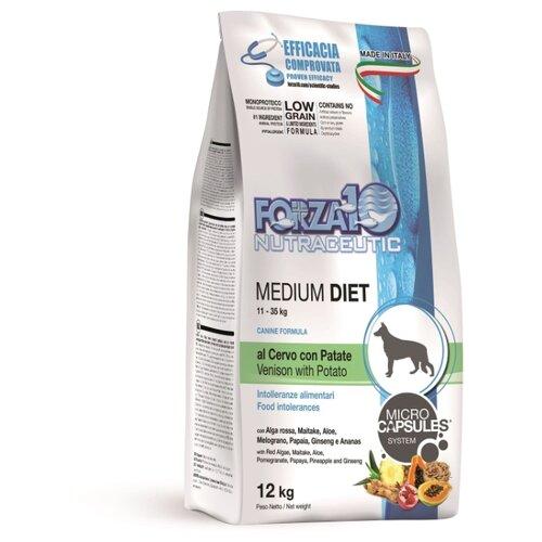 Сухой корм для собак Forza10 оленина с картофелем 12 кг (для средних пород) сухой корм для собак forza10 best breeders 26 15 для здоровья кожи и шерсти оленина с картофелем 20 кг