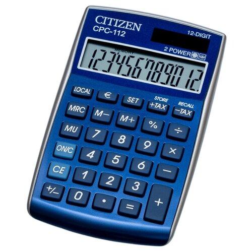 Калькулятор карманный CITIZEN CPC-112 синий