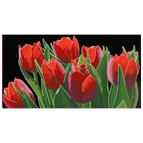 Купить Весенний бал (рис. на сатене 25х45) (строчный шов) 25х45 Конек 9498, Конёк, Канва