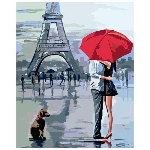 Купить Картина по номерам Живопись по Номерам Под красным зонтом , 40x50 см, Живопись по номерам, Картины по номерам и контурам