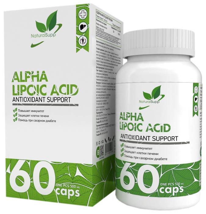 Купить Альфа липоевая кислота NaturalSupp Alpha Lipolic Acid 60 капс. по низкой цене с доставкой из Яндекс.Маркета