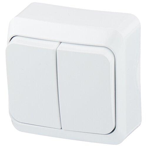 Выключатель 2х1-полюсный Schneider Electric ЭТЮД BA10-002B,10А, белый schneider двухклавишный выключатель этюд белый