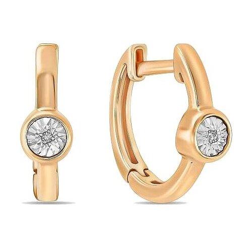ЛУКАС Серьги с 2 бриллиантами из красного золота E01-D-PL-34054 серьги из золота e01 d e59474 cp