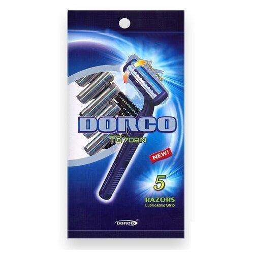Фото - Бритвенный станок Dorco TG702N ,черный, 5 шт. бритвенный станок dorco tr a200