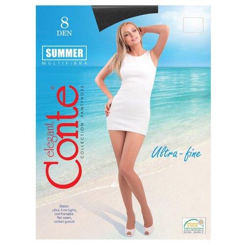 Фото - Колготки Conte Elegant Summer 8 den, размер 5, nero (черный) комплект conte elegant conte elegant mp002xw13v8a