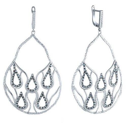 JV Серебряные серьги с фианитом LLE0016-SR-001-WG