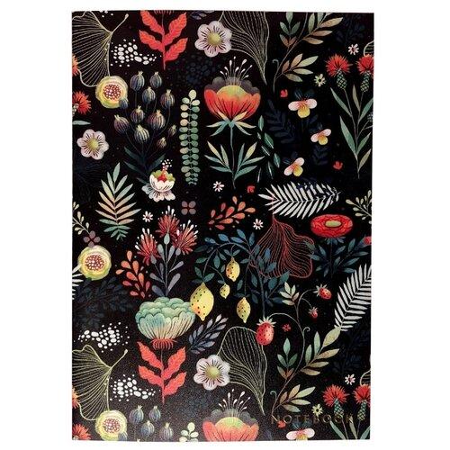 Подписные издания Тетрадь Floral, клетка, 30 л. черный фото