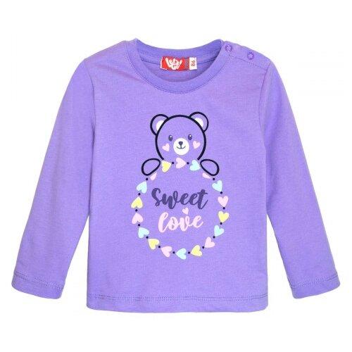 Купить Лонгслив Let's Go, размер 80, фиолетовый, Футболки и рубашки