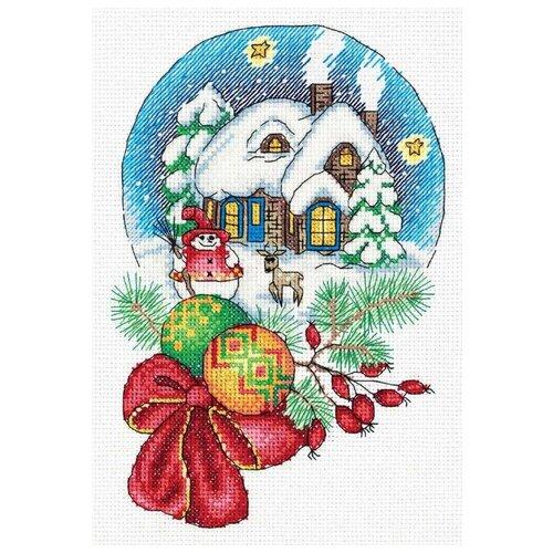 Купить Klart Набор для вышивания Снежный шар 23.5 х 17.5 см (8-352), Наборы для вышивания