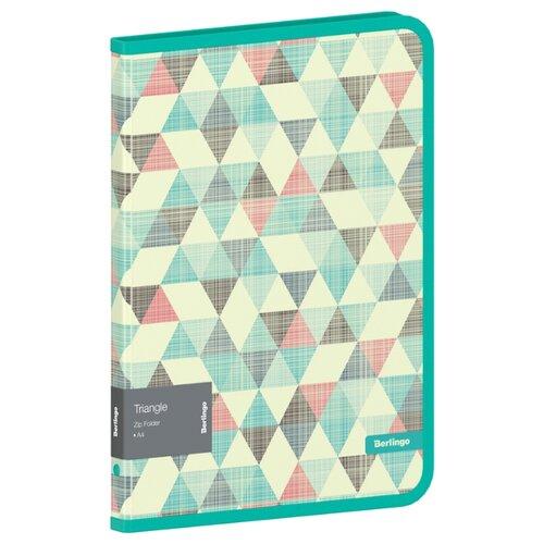 Купить Berlingo Папка на молнии Triangle А4, 600 мкм, пластик бирюзовый, Файлы и папки