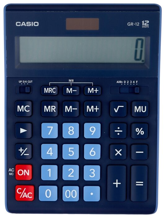 Калькулятор бухгалтерский CASIO GR-12 темно-синий