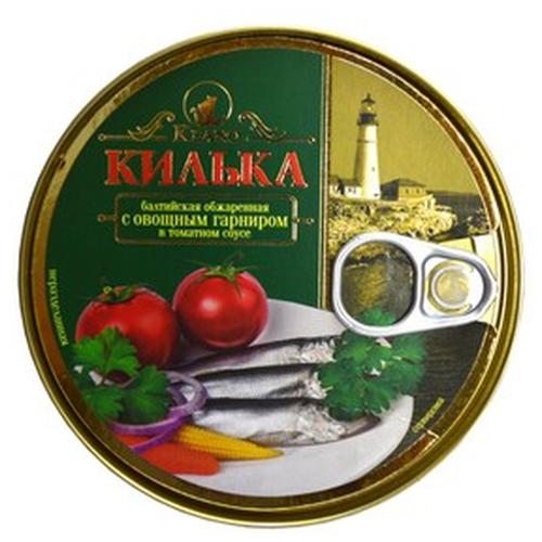 Keano Килька балтийская обжаренная с овощным гарниром в томатном соусе, 240 г