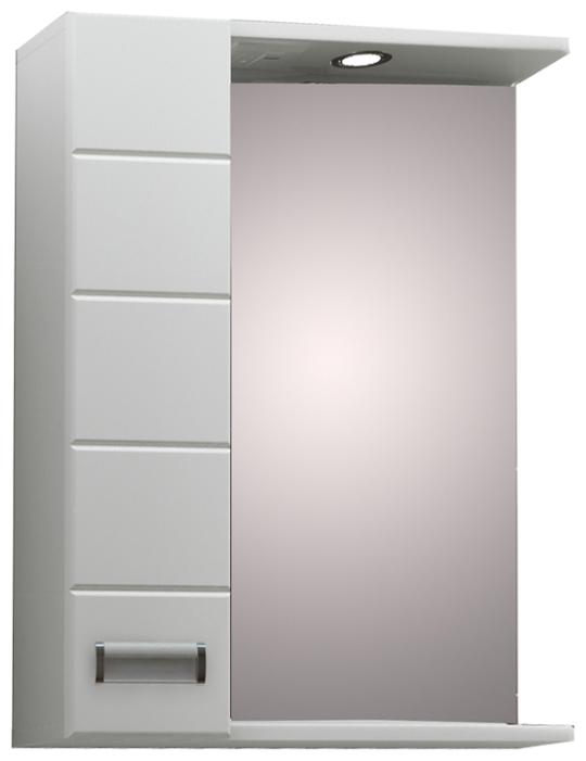 """Зеркало """"Вега 60"""" правое, с подсветкой, белый, со шкафчиком - Характеристики - Яндекс.Маркет"""