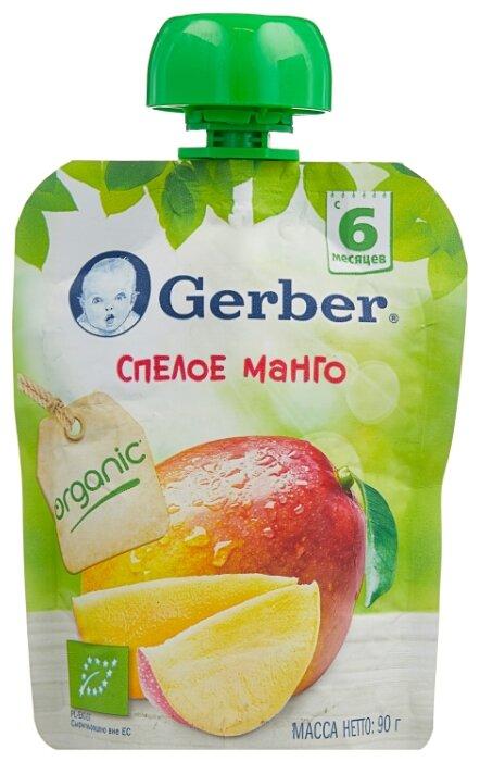 Пюре Gerber Спелое манго (с 6 месяцев) 90 г, 1 шт.