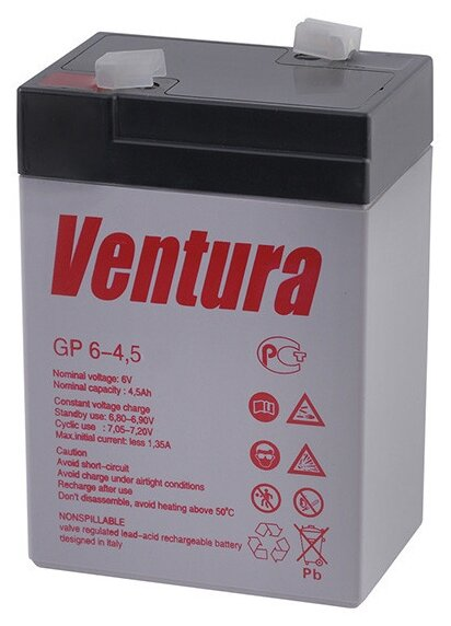 Аккумуляторная батарея Ventura GP 6-4.5 4.5 А·ч