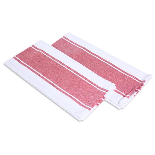 хозяйственные товары dosh home набор полотенец atira 6 шт Набор полотенец, DOSH   HOME, ATIRA, красный, белый, 2шт Бело-красный