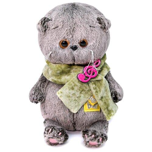 Купить Мягкая игрушка Basik&Co Кот Басик baby в бархатном кашне 20 см, Мягкие игрушки