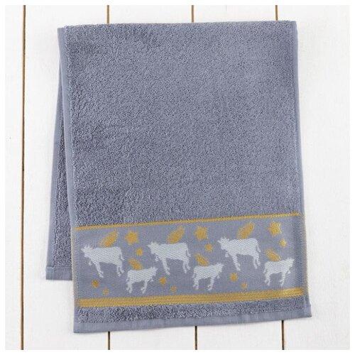 Этель полотенце Коровы 30х70 см серый