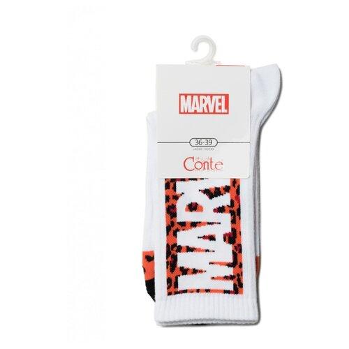 Фото - Носки Conte Elegant Marvel 19С-116СПМ 178, размер 23-25, белый носки conte elegant comfort 19с 101сп размер 23 темно бордовый